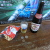 豊嶋屋酒店 - 料理写真:キリンラガー中瓶320円 かっぱえびせん60円