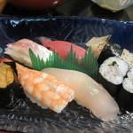 高玉 - メインのお寿司は細巻きも入れて7種類、いずれも中むら高玉の名前に負けない素晴らしいお寿司でしたよ。