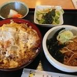 満月 - カツ丼セット900円