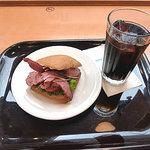 エクセルシオール カフェ - Bセット ビーフパストラミ 400円