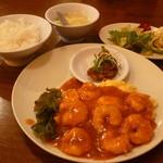 牡丹江 - えび玉ランチ