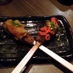 九州料理×もつ鍋 九州小町  - 黒豚手こねつくね串(おろしポン酢、明太子)