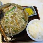 幸楽園 - サンマー麺(中)&餃子セットのサンマー麺ライス付き