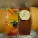 はらドーナッツ 阪急梅田店 - はらロール左から、青巻、フルーツ、バナナチョコ、青巻♪