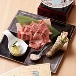 香家 - 霜降り神戸牛のサーロイン水晶焼き