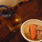 侍 - ビールとお通し