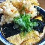 そば処 丸福 - かに天とじ 1070円 2013.6