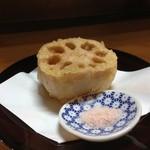 美味ひでき - レンコンの天ぷら分厚いから、食べごたえ有りますよ!