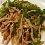 上海園林 - 豚肉とピーマンの炒め