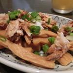 ぶっこ麺らーめん - 2013.06初訪 このおつまみ(無料)がまた美味しかったのです