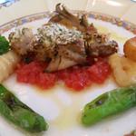 カフェ ド ヒラオカ - 若鳥の香草パン粉焼き