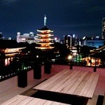 バーシス - 幻想的な浅草寺のライトアップを目の前でお楽しみいただけるのは当店だけ!~屋上テラス席~