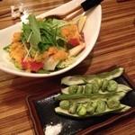 横鍋JAPAN - 横鍋JAPANサラダと焼きそら豆