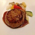 レストラン レトロワ - 8皿目のハンバーグステーキ