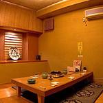 大塚 三浦屋 - 掘りごたつの個室。4〜6名様までご利用可能。