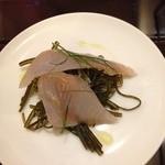 レストラン レトロワ - 最初の5皿のうち、ホッケのマリネ