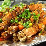 知音食堂 - 天府串串蝦(蝦の辛味串焼き)