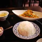 ロータスラウンジ - シーフードのカレー玉子炒め(ランチI)