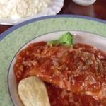 和風レストラン 麻希 - 日替わりランチ。鶏のソテー