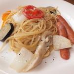 ノーザンカフェ - 自家製ワイン塩麹の白いナポリタン 945円のアップ 【 2013年6月 】