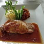 ぶどうの丘 展望ワインレストラン - 富士桜ポークのソテー