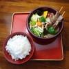 らぁじゃ - 料理写真:米沢牛のスープカレー やっぱり米沢では米沢牛 ちょっとだけ牛串で米沢牛を満喫出来ます