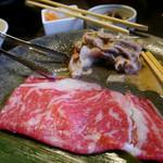 かごの屋 - しゃぶしゃぶ肉 before & after