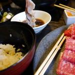 かごの屋 - しゃぶしゃぶ肉&ご飯