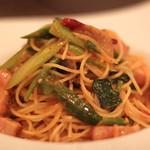 奥田パスタ - 料理写真:厚切りベーコンと旬野菜たっぷりオルトラーナ