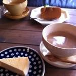 ハコノカフェ - チーズケーキ