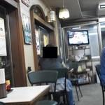 そうすけ - 201306 そうすけ 店内(座席より右回り)⇒テレビがあります