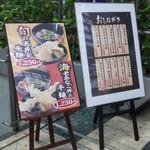 天丼やトップライト - メニュー看板