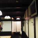 黒門 さかえ - 小さなカウンターの店内