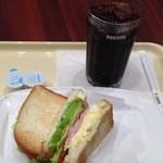 ドトールコーヒーショップ - 朝カフェセット380円 ハムタマゴ