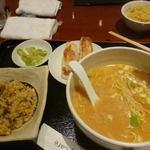 リータンタンカフェ - 高菜炒飯とハープ札幌味噌ラーメンセット@1280円