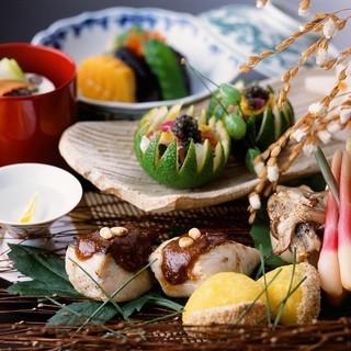 中央市場直送の季節食材を楽しむ自慢の【会席料理】