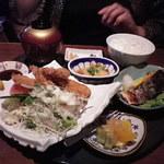くいもん屋 嘉門 - 料理写真:豚バラフライと鮭塩焼き