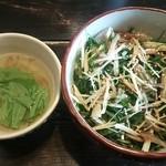 ホシジルシ - おとうふ丼(スープ付)680円♪