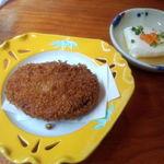 鼓や - 蛸コロッケと淡路牛乳豆腐