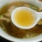 よし晴 - あっさり鶏ガラ醤油スープ