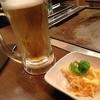 お好み焼き 喜ノ家 - 料理写真:ビールと付き出し。
