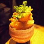 もつ鍋 野菜 古民家居酒屋 信助 - 海老のピリ辛マヨソース