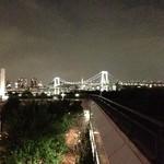 メインバー「キャプテンズバー」 - H25.6 ホテル横よりレインボーブリッジ&東京タワー