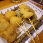 おっちゃんの台所 - 串揚げ5本