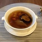 chuugokuryouritouri - フカヒレ姿入り薬膳蒸しスープ