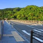 嵐山おぶう - 内観写真:渡月橋の目の前にお店はあります。