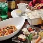 森のボナペティ - 田舎風パテ、オードブル盛り合わせはもちろん、パスタやpizza、がレットもございます。「基本的にディナータイム」