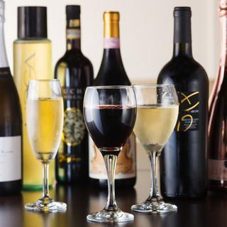 グラスワイン 常時10種類以上