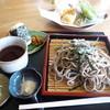 桜風庵 - 料理写真:そばセット(季節の天ぷら・おにぎり付き)900円