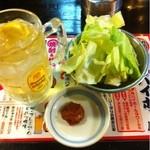 八幡宿駅前の串屋横丁 -